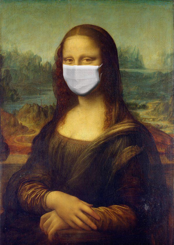 Gioconda con mascherina Covid 19